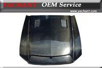 Car Styling Carbon Fiber Hood Fit For 10 14 Mustang Shelby GT500 GT V6 Tru Carbon A53KR Style Ram Air Hood Bonnet