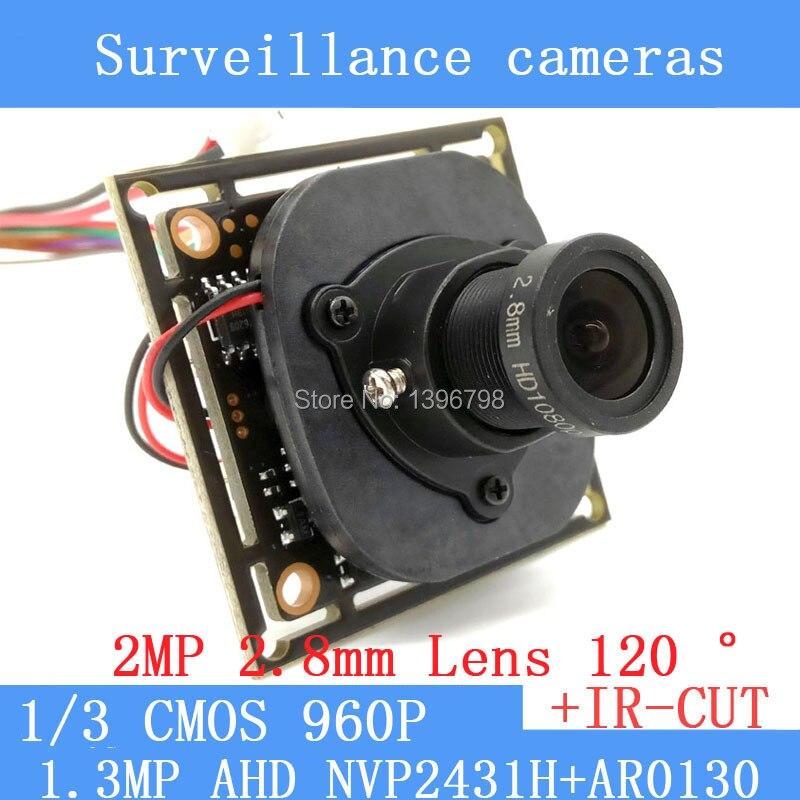1.3MegaPixel 1280 * 960 1200TVL AHD CCTV 960P mini night vision Camera Module 1/3 CMOS 2.8mm wide-angle 120 degrees CCTV Camera 1 3mp ahd 1200tvl mini night vision surveillance camera 1 3 cmos 6mm lens cctv 960p camera module osd cable