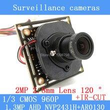 "1.3MegaPixel 1280 * 960 1200TVL AHD CCTV 960P mini night vision Camera Module 1/3 ""CMOS 2.8mm wide-angle 120 degrees CCTV Camera"