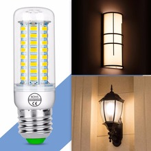 цена на Corn Bulb GU10 LED Lamp 220V E27 bombilla E14 Candle Light Bulb B22 LED Light 24 36 48 56 69 72LEDS Chandelier Lighting 5730SMD