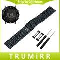 24mm correa de acero inoxidable para suunto core smart watch banda de pulsera correa Brazalete de Eslabones de Plata Del Oro Negro + Adaptador De Terminal + Herramienta