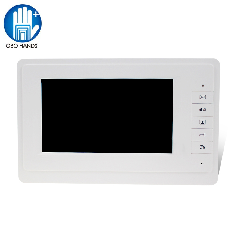 7 TFT LCD Color Screen Video Video Door Bell Intercom System Indoor Monitor Unit with 25 Ringtone for Home Apartment Safe V70F door intercom video cam doorbell door bell with 4 inch tft color monitor 1200tvl camera