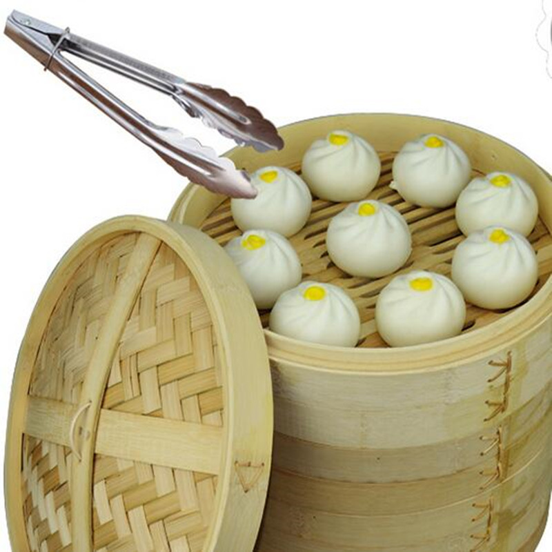 2 Tier Chinese Bamboo Steamer Kitchen Cookware Fish Rice Dim Sum Basket Pasta Dumpling Cooker Set With Lid Cooking Tool