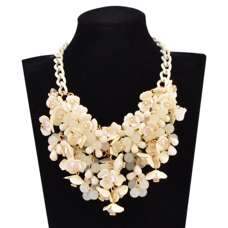 Bohemia Maxi flower choker necklace sping fashion boho jewelry Ikeacasa, Free Shipping