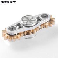 OCDAY Toothed Gearing Anti Stress Toy Fidget Spinner Metal Box EDC Toys Top For Autism ADHD