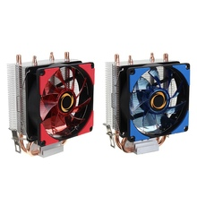 High Quality Dual LED CPU Fan Heatsink Radiator 9cm For Intel LGA1155X 1151 AMD Socket New