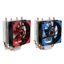 High Quality Dual LED CPU Fan Heatsink Radiator 9cm For Intel LGA1155X/1151 AMD Socket New computer Cooling Fan Cooler For cpu