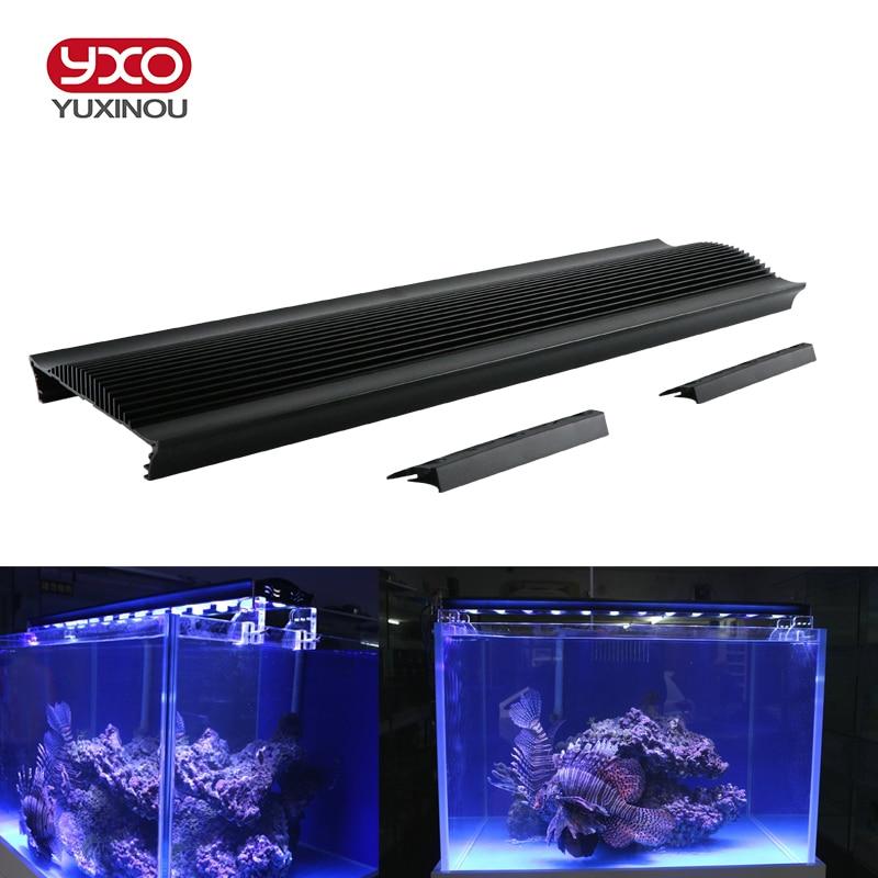 1 pcs BRICOLAGE Haute Puissance A MENÉ LE Radiateur en aluminium radiateur dissipateur de chaleur accessoires d'aquarium pour l'aquarium a mené l'éclairage d'aquarium plantes