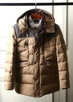 Новинка 2017 зимние мужские парки бренд одежды тепловой утолщение канада моды Гуд пуховик Куртки с капюшоном коричневый из Китая