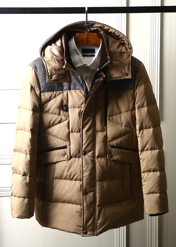2017 new winter men brand clothing parkas thermal thickening Canada fashion GOODE DOWN coat jackets with a hood brown from China