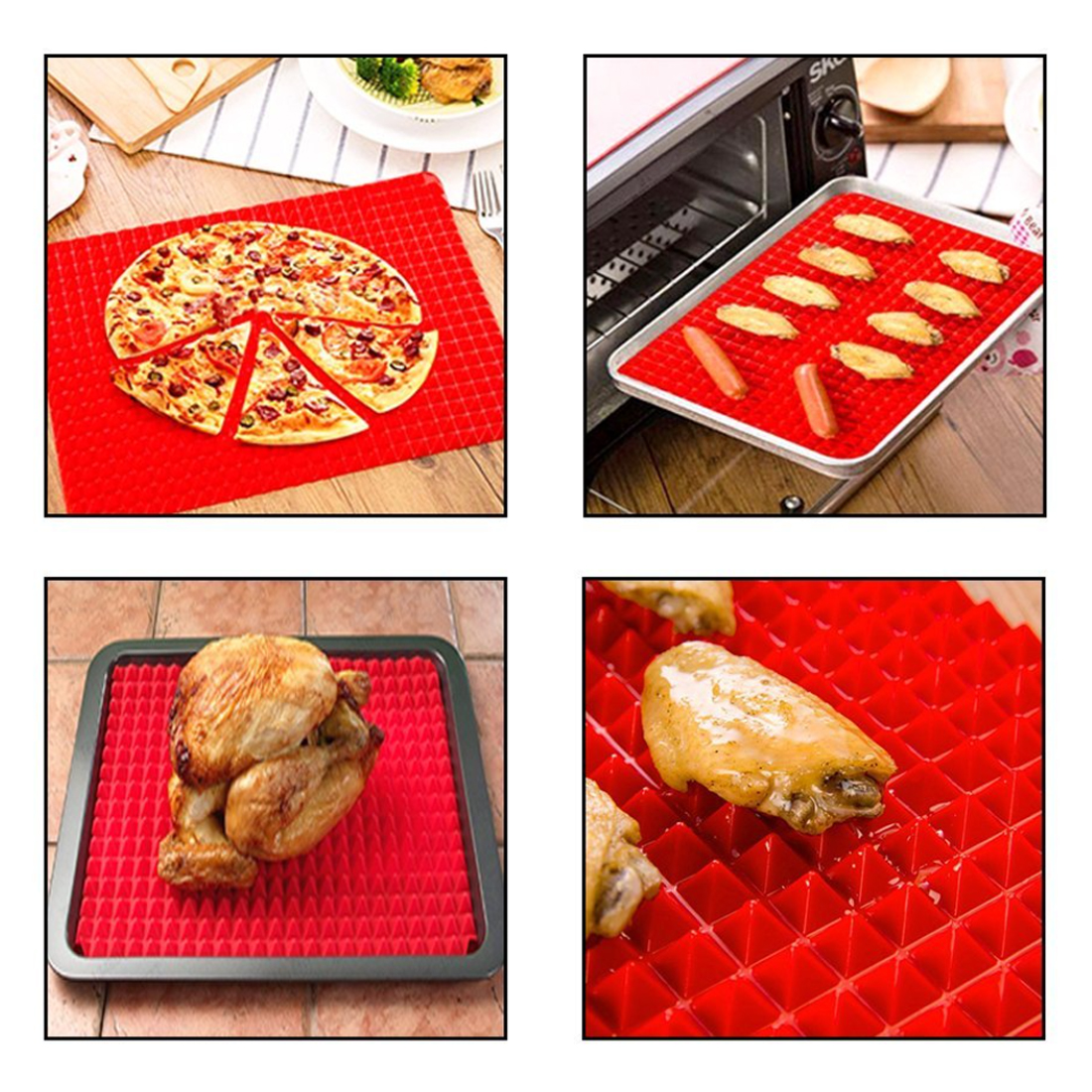 Kitchen Practical Pyramid Silicone Nonstick Baking Mat