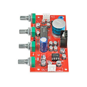 Image 4 - AIYIMA LM1036 Tone Board Bass Treble Balance Volume Control Adjustment NE5532 OP AMP HIFI Preamplifier Amplifier Single Power