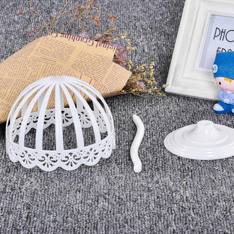 Chapéu Tampas de Plástico branco Capacete de Racks De Armazenamento Titular Display Stand Perucas Organizador Prateleira para Loja de Bebê (40 cm Perímetro)
