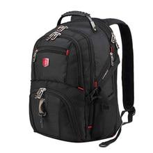 98d3e1c2430604 Svizzera degli uomini Zaino 15.6/17 pollice Computer Notebook sacchetto di Scuola  Borse Da Viaggio Unisex Grande Capacità bagpac.