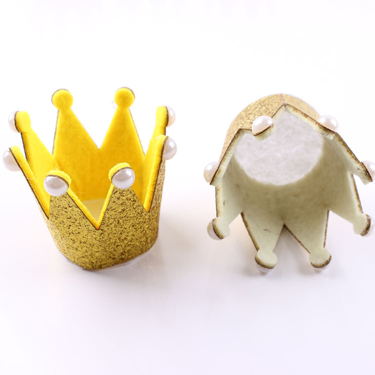 Venta al por mayor recién nacido 3D fieltro bebé Crown para las niñas accesorios para el