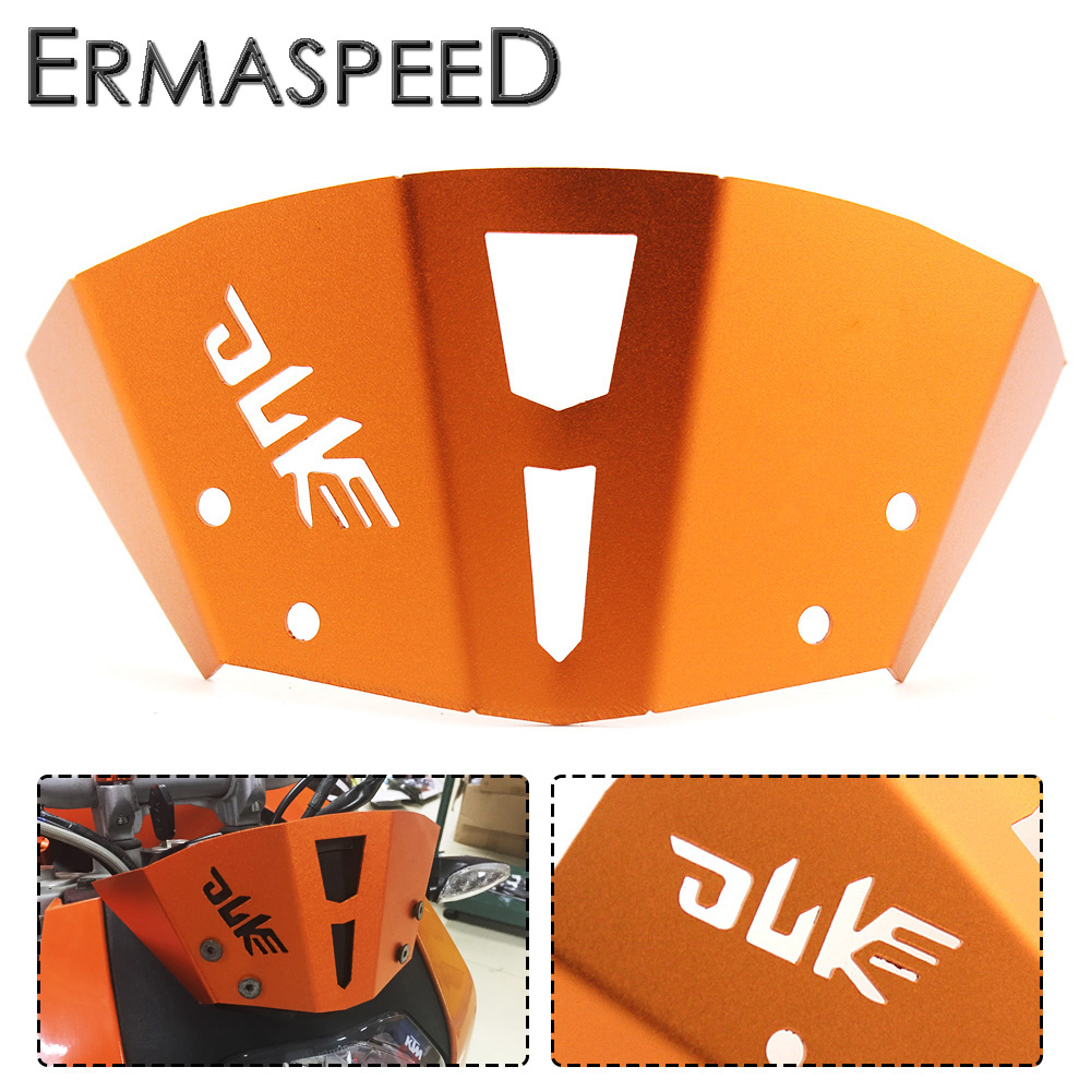 Orange Motorcycle Front Windshield Guard Windscreen CNC Aluminum Modified Accessories for KTM 125 200 All Year 390 2013-2015 motorcycle accessories cnc aluminum front