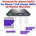 Vinsic 12000mah Power Bank 12000 mah Smart IQ Powerbank Ultra Slim Gray 5V 2.4A for iPhone 6 Charge 430% Universal
