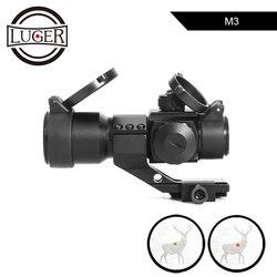LUGER M3 visor óptico táctico holográfico rojo verde punto retícula colimador mira caza rifle para pistola de aire Airsoft