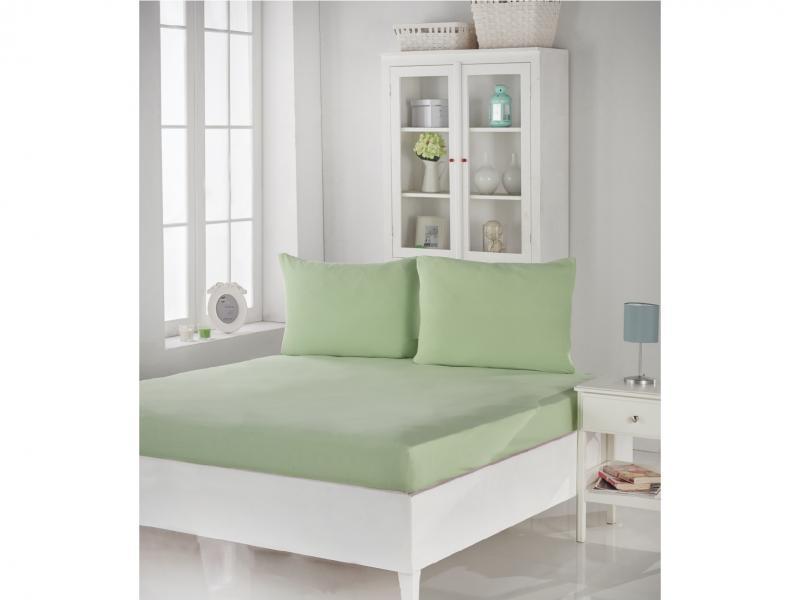 Set KARNA, ACELYA, bed sheet with two наволочками, 180*200*30 cm, light green two tone handle eye brush set 3pcs