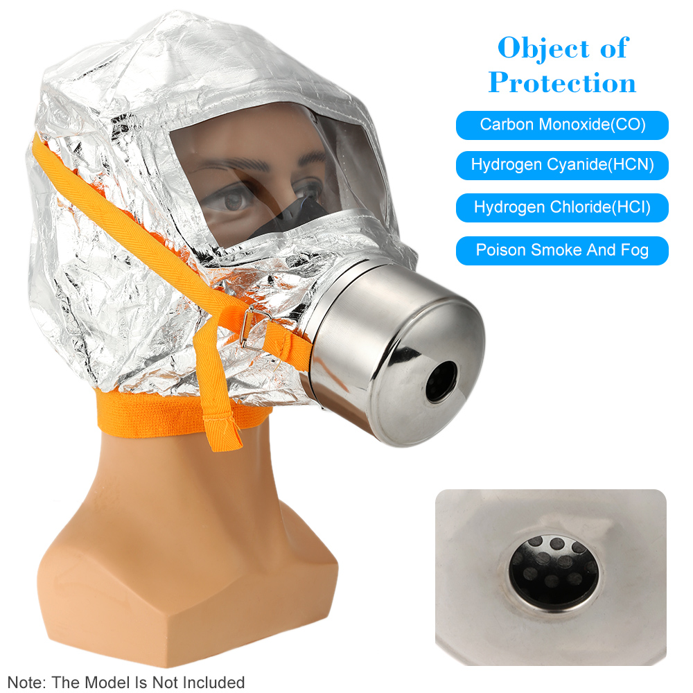 Gas mask Firemen Fire Emergency Escape Oxygen Mask Self-life-saving Respirator 30 Minutes Smoke Toxic Filter new 2018 catalyst desiccant fire escape mask emergency hood oxygen gas masks respirators 30 minutes smoke toxic filter gas mask