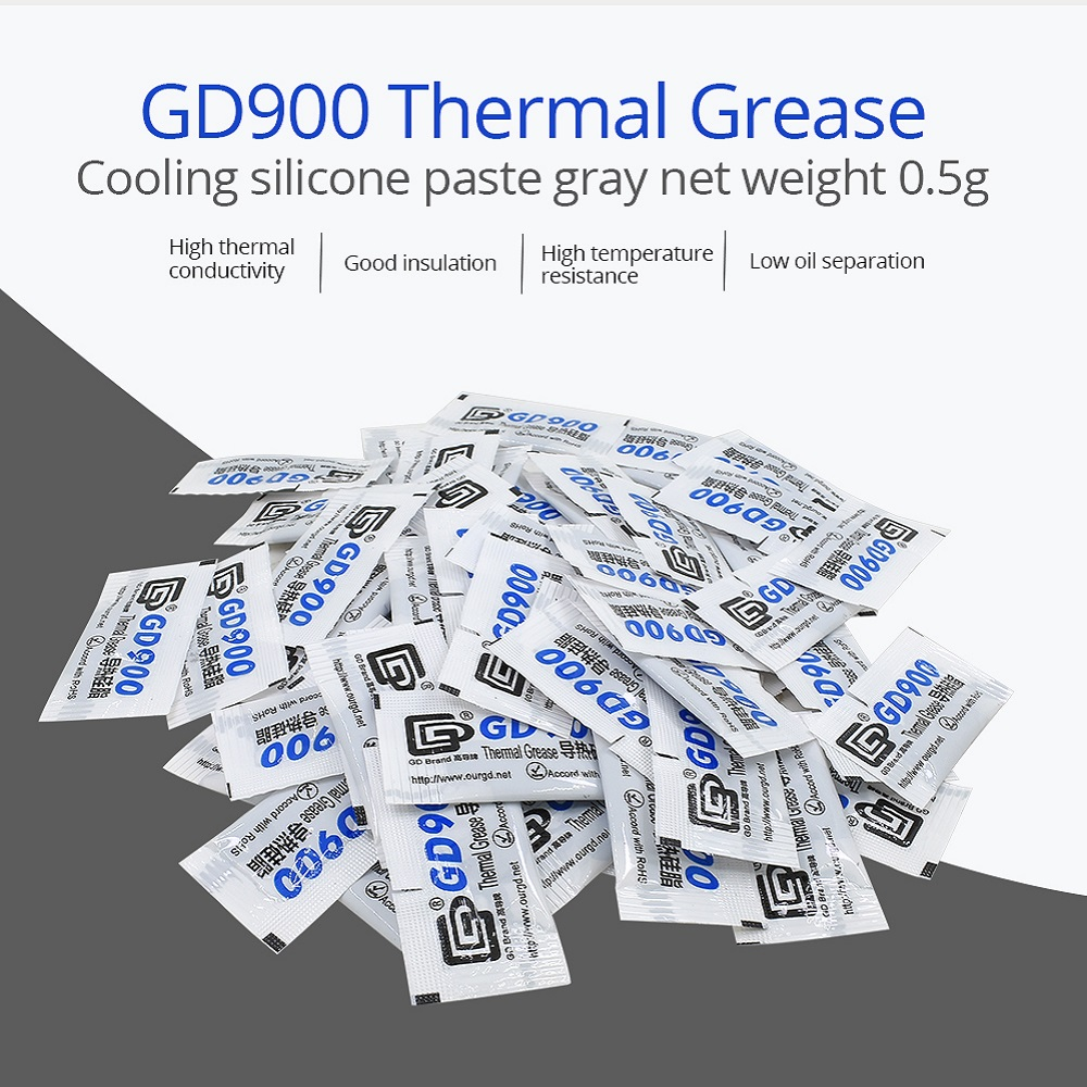 10PCS TISHRIC GD900 Thermal Grease Paste Silicone Compound Conductive CPU <font><b>GPU</b></font> Heatsink Plaster Glue Cooler for Processor 0.5G image