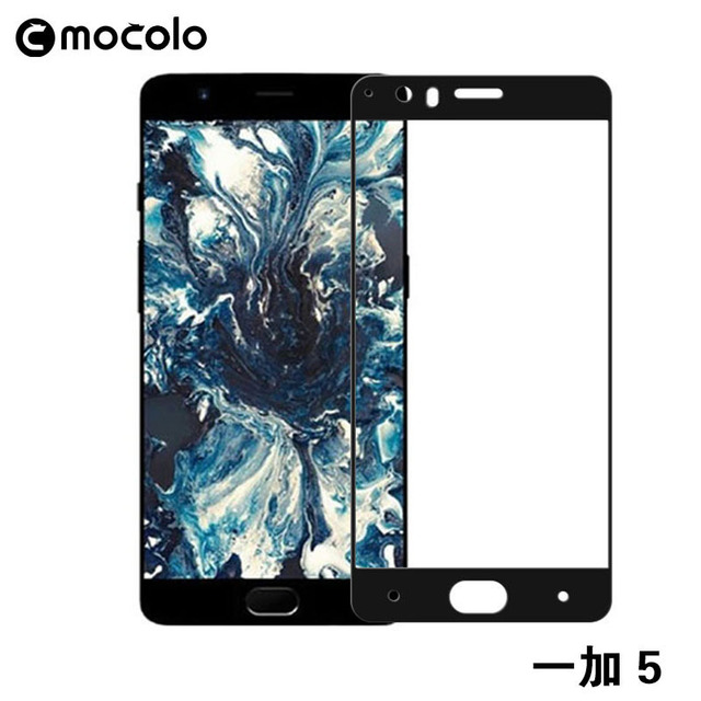 9ea49321581 100% Original Mocolo Silk Printing Full Cover Tempered Glass Screen  Protector for One plus 5 Glass Film for Oneplus 5 in stock
