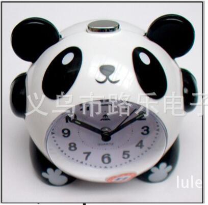 cartoon panda alarm clock night light electronic bell 16 polyphonic music super quiet snooze alarm clocks