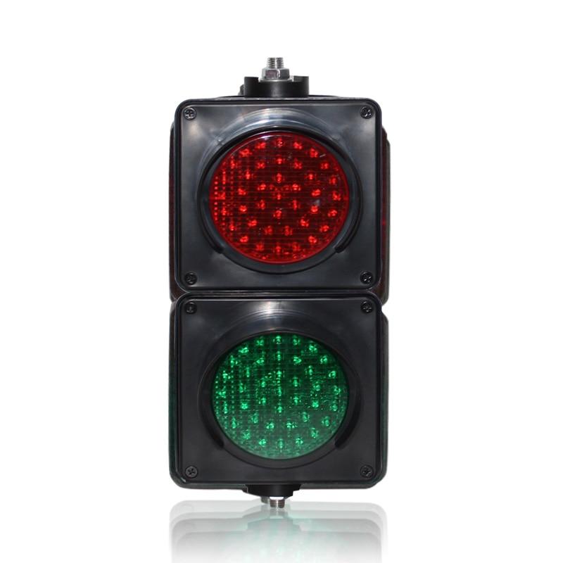 DC12V Colored Lens 100mm Red Green LED Light PC Housing Mini Traffic Signal Light On Sale