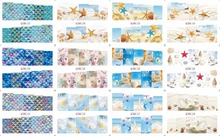 On sale !!    1 lot =50sheets 12 in one sheet  New Style Nail Art Water Sticker Small beach products  in 2016 for  BN157-168 цена
