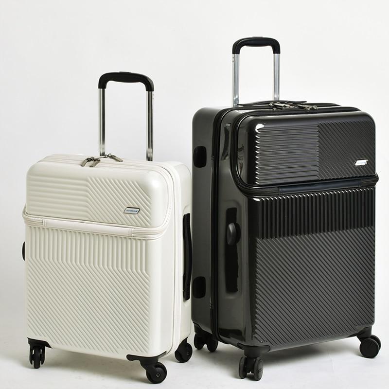 Mode Trolley Koffer, Nieuwe Cabine Rolling Bagage met Laptop tas, Vrouwen Merk reistas, mannen Upscale Zakelijke bagage tas-in Koffers van Bagage & Tassen op  Groep 1