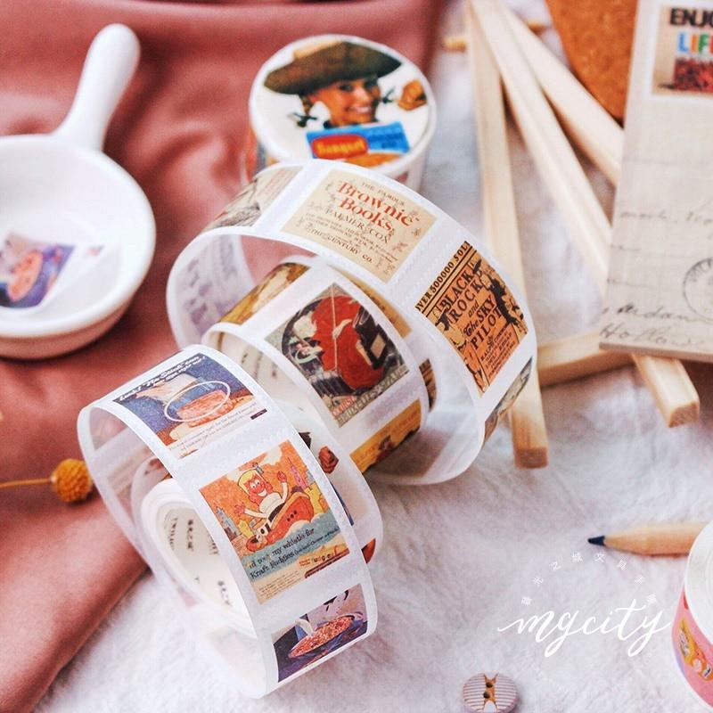 Creative Vintage Stamp Washi Tape Diy Scrapbooking Sticker Label Masking Tape School Office Supply