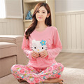 2017 spring and autumn new fashion pregnant women pajamas long-sleeved month clothing out nursing home clothing