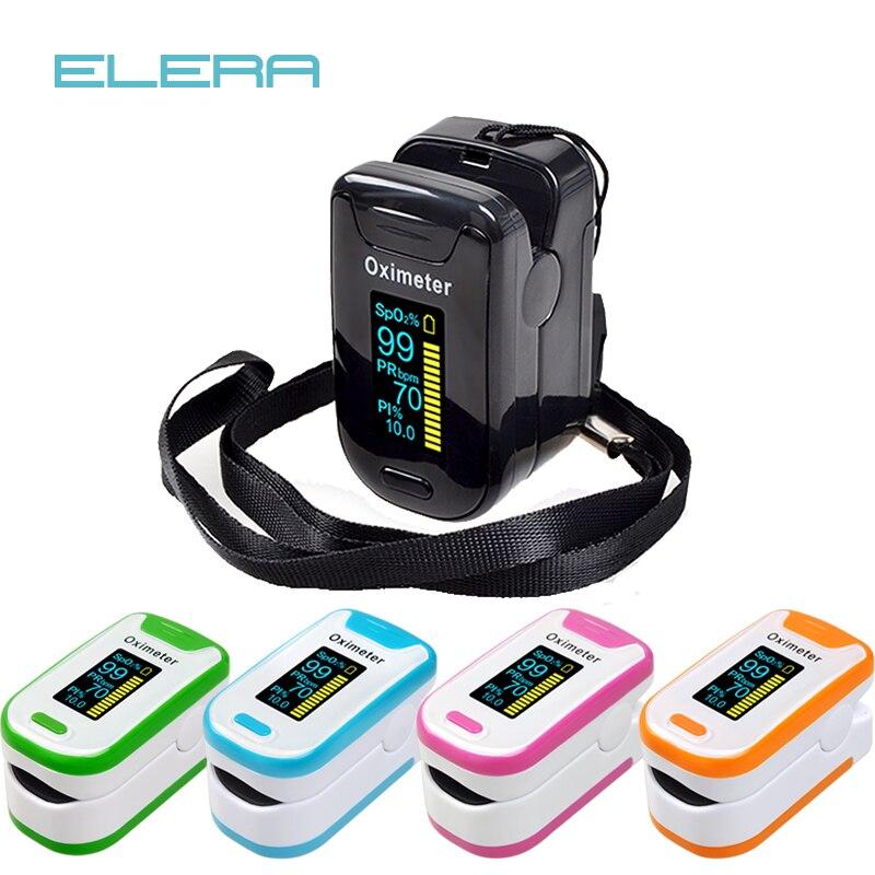 Oxymètre de pouls doigt d'alarme ELERA surveillance de sommeil Portable OLED pulsioximetro SPO2 PR oxymètre numérique de dedo doigt