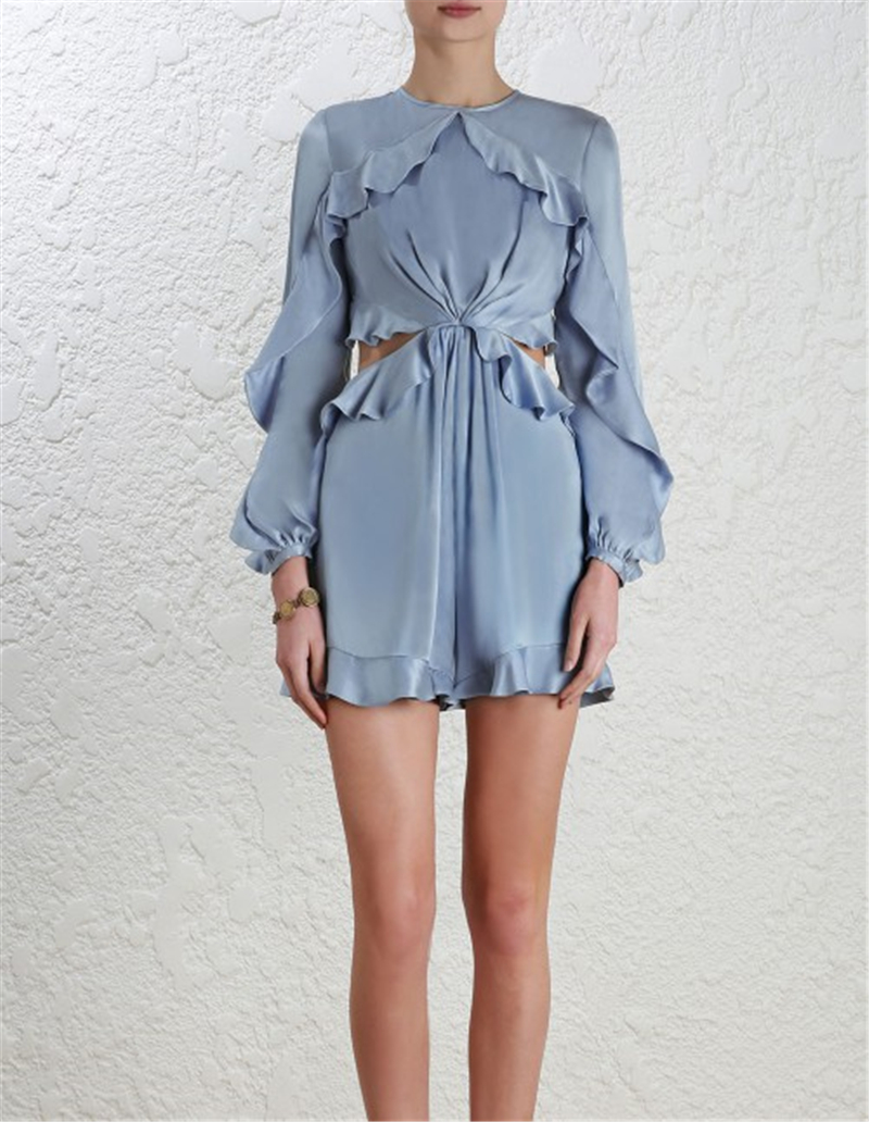 PADEGAO Elegant women Lotus decoration Halter tops o neck Siamese shorts with Silky soft Fabric 2018