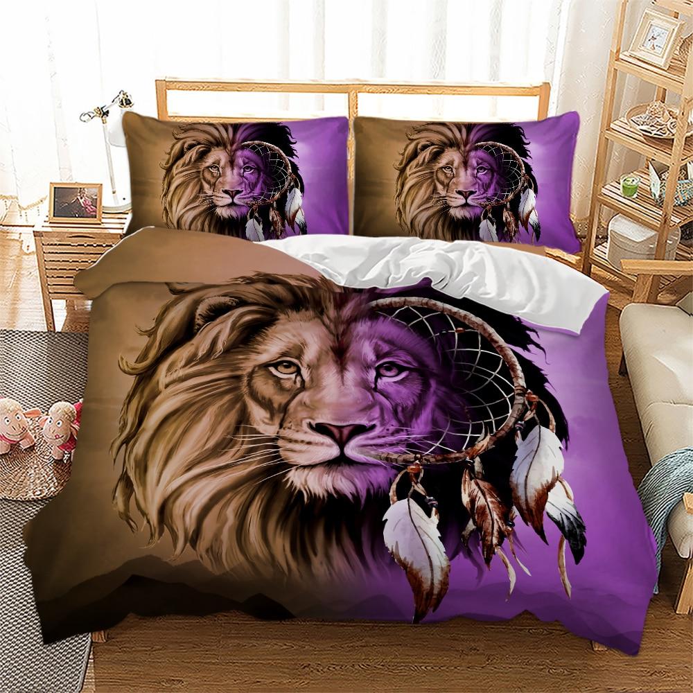 Lilac Duvet Set 3PC Pillow Cases 100 /% Super Soft Bedding Single Double King