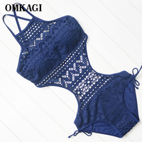 Sexy Mesh One Piece Swimsuit Women Monokini Bathing Suit Hight Quality Summer Beach Wear Maillot De