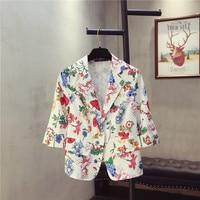Plus Size 5XL Women Blazers And Jackets New Spring Summer Jacket Blazer Women Suit Jacket Floral Suit Coat,Blazer Feminino C4531
