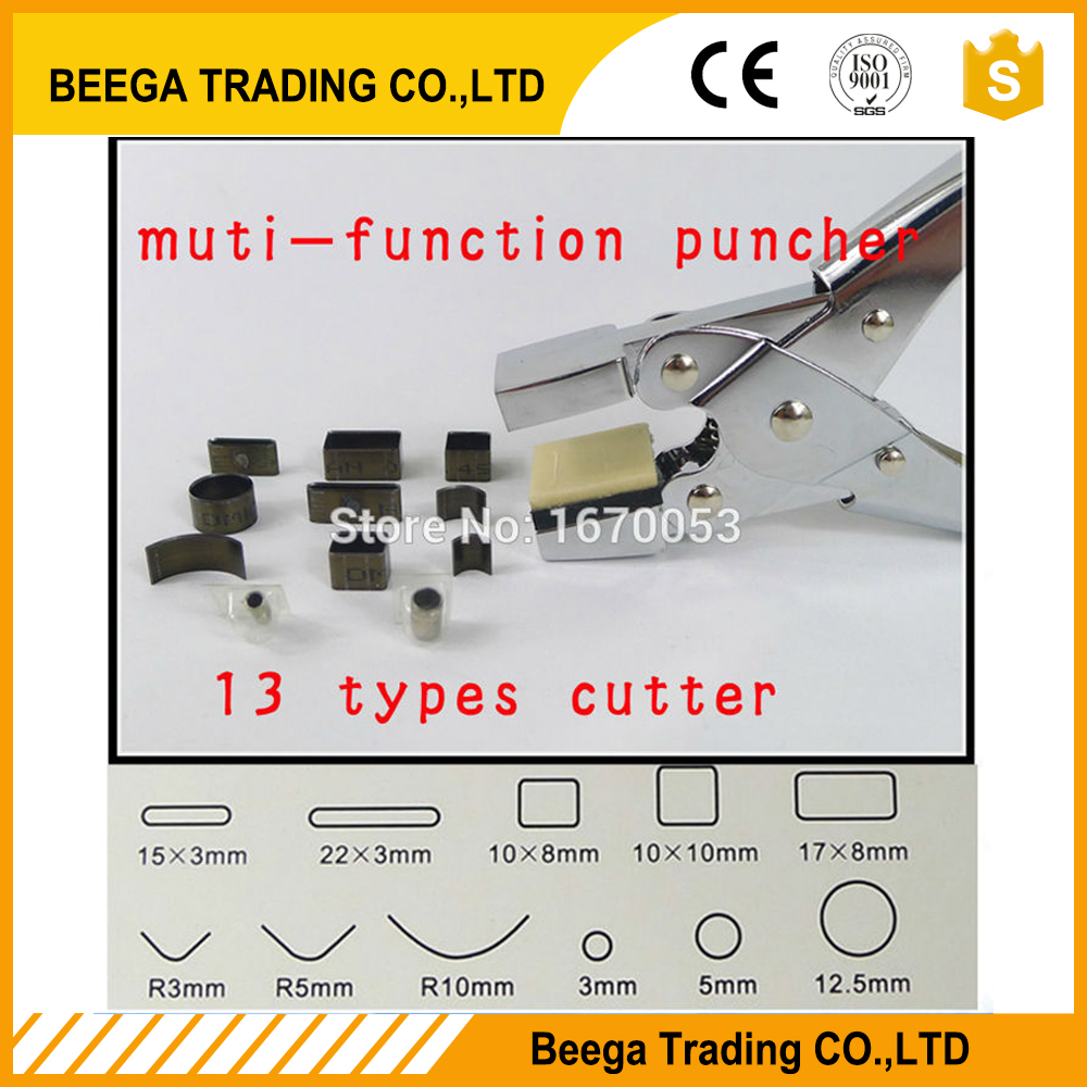 New Arrival Muntifunction Hole Punch Pliers Tool High Quality&Wholesale with 13 Types Shape Щипцы