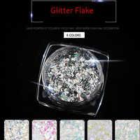 6 caixa/lote (conjunto 1 6 = CAIXA) flocos Glitter prego Conjunto Irregular Paillette Lantejoulas Da Arte Do Prego Dicas Gel UV Para Nail Art Decoração PLB20