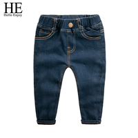 Kids jeans Winter girl Skinny Jeans 2018 fashion cotton Children Denim Trousers Keep Thickening Warm Pants for Boys Jeans