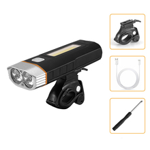 Super bright outdoor 7000 lumens Bicycle light 2*18650 built-in batteries USB rechargeable Bicycle light 2*T6 COB LED flashlight wosawe 2400 lumens bicycle light with 18650 built in batteries usb rechargeable bike light 2 xml led lamp flashlight 5 modes