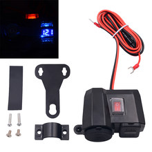 DC 5V 2.1A Motorcycle Cigarette Lighter Dual USB Charger LED Replacement Parts(China)