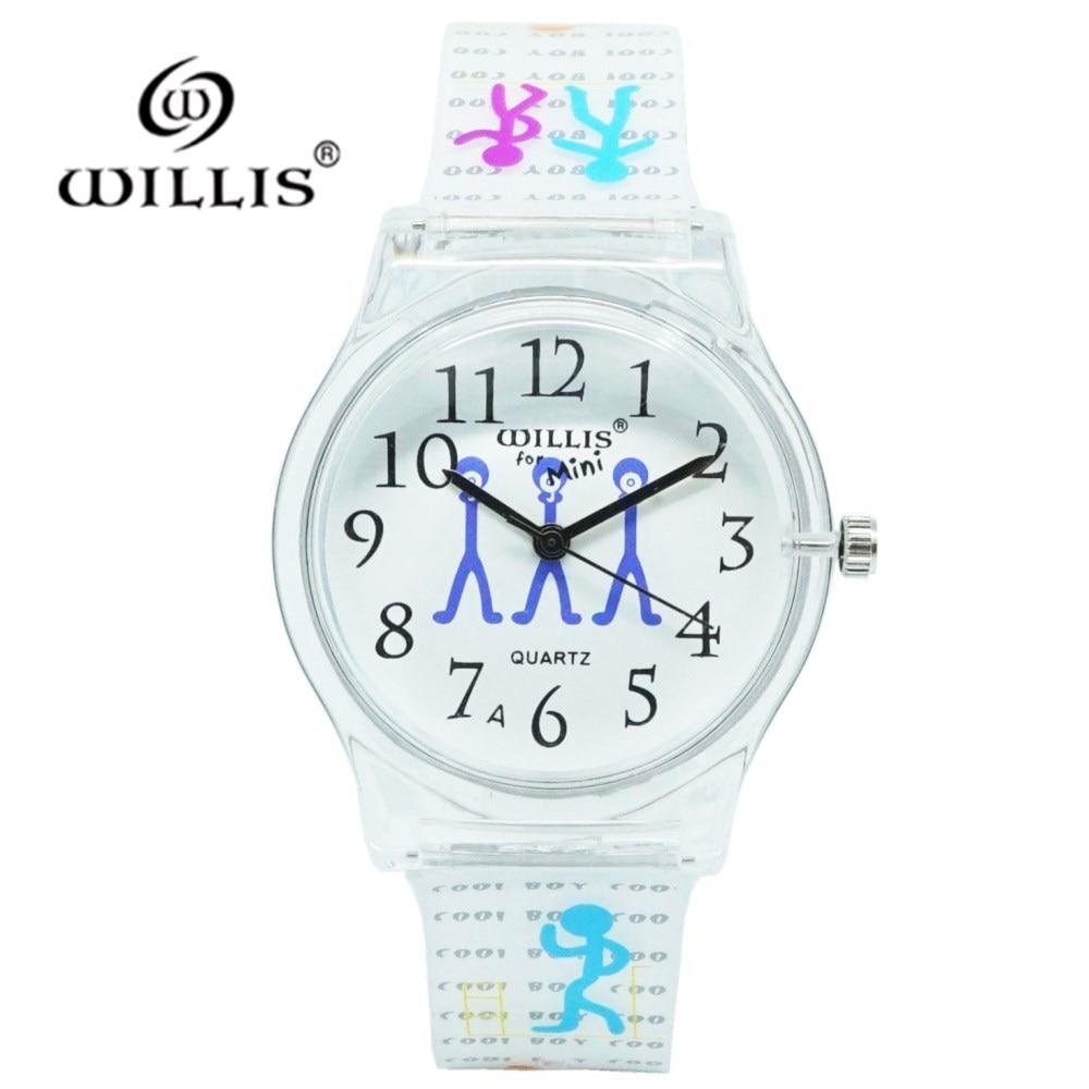 WILLIS Brand Women Waterproof Quartz Sports Watch Silicone Fashion Ladies Leisure Clock Dress Harajuku Style Casual Child Watch