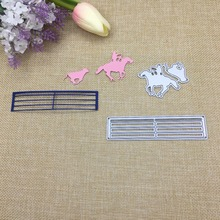 Julyarts Horse Riding Fustell Nouveau Arrivage Frame Metal Cutting Dies For Scrapbooking Card Making