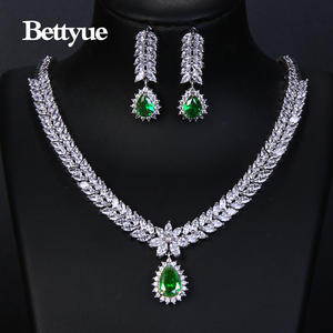 Jewelry-Sets Cubic-Zircon Wedding-Gifts America-Style Elegance Fashion Woman Brand Multicolor