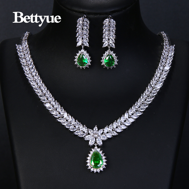 Bettyue Brand Fashion Elegance Cubic Zircon Multicolor Europe And America Style Wholesale Jewelry Sets For Woman Wedding Gifts