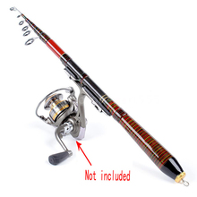 1.2M 1.4M 1.8M 2.1M Automatic Fishing Rod Carbon Fiber Telescopic Fish Rod River Ice Raft Fishing Pole Fishing Tackle Tool Pesca