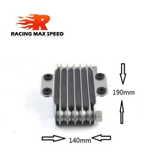 цена на High Quality Universal  Motorcycle oil cooler 190 mm 6 row silver SO-05