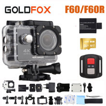 цена на 2019 GOLDFOX F60/F60R 4K WIFI Action Camera 1080P/60fps Ultra HD Sports Camera Go Waterproof pro DV Camcorder 16MP 170 Degree
