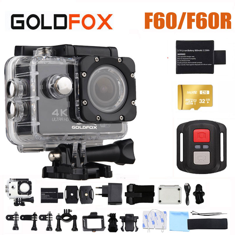 2019 GOLDFOX F60/F60R 4K WIFI Action Camera 1080P/60fps Ultra HD Sports Camera Go Waterproof pro DV Camcorder 16MP 170 Degree image